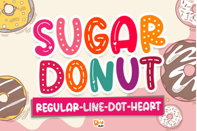 Sugar Donut Deluxe Package Font!