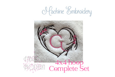 Heart Machine embroidery design for towels