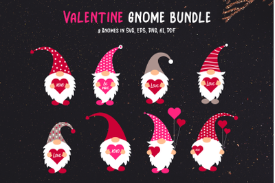 Valentine Gnome Bundle | 8 files for Mix and Match