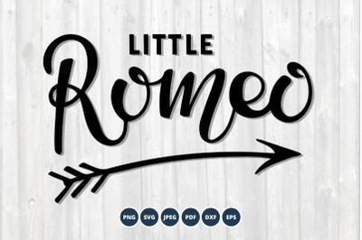 Little Romeo SVG. Kids Valentines Day.