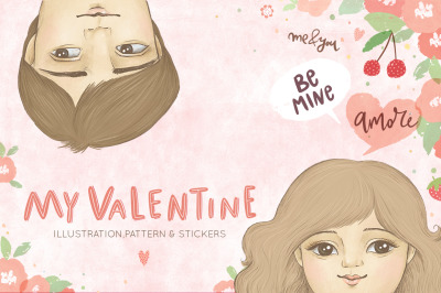 Be my Valentine illustration