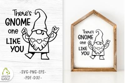 Valentine gnomes svg Valentine's day svg Gnome svg cut file for cricut