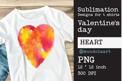 Love watercolor design for sublimation on t-shirt.
