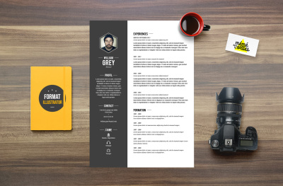 CV Grey - Resume template Illustrator