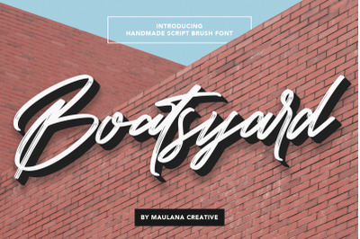 Boatsyard Handmade Script Brush Font