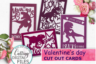 Valentines day cards bundle svg dxf cut out templates