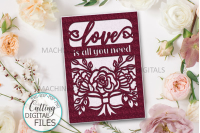 Love Valentines day card svg dxf cut out templates