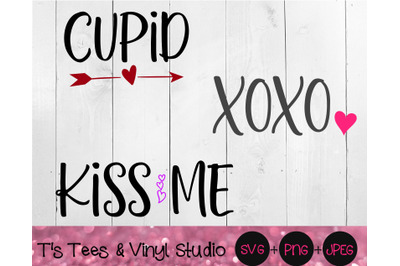 Valentine's Day, Cupid Svg, XOXO Png, Kiss Me, Perfect For Wood Block