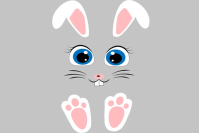 Easter bunny face svg, Rabbit face svg, Easter svg, Easter decorations