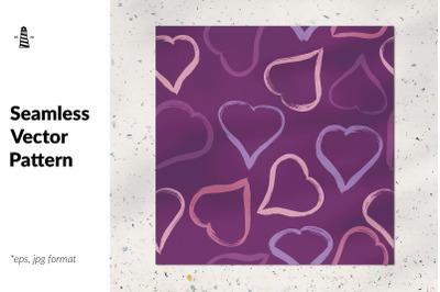 Valentine hearts seamless pattern
