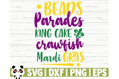 Beads Parades King Cake Crawfish Mardi Gras
