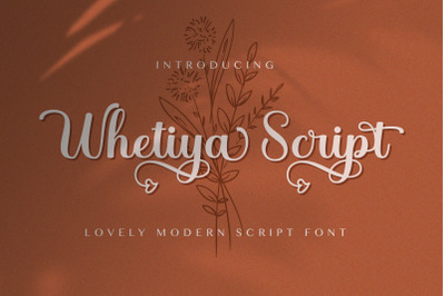 Whetiya - Love Script Font