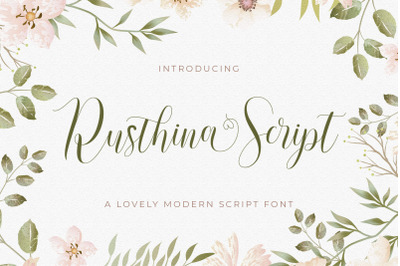 Rusthina - Love Script Font