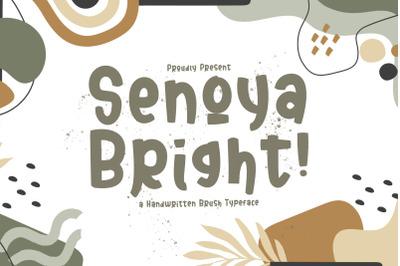 Senoya Bright - Playful Display Font