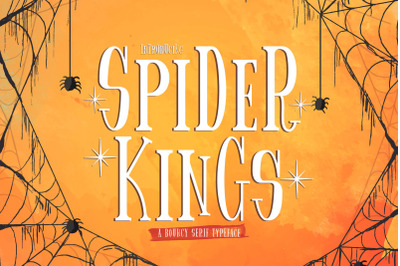 Spider King - Beautiful Serif Font