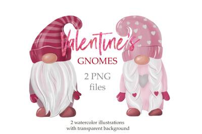 Valentine's Gnomes Clipart