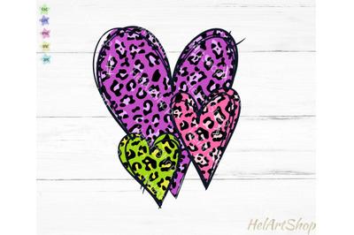 Leopard hearts png