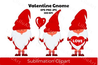 Valentine Gnome Sublimation