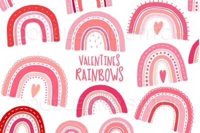 Valentines Rainbow Illustrations
