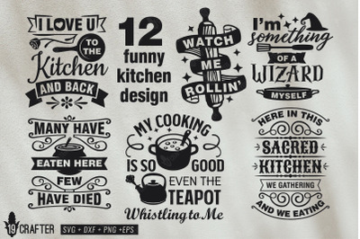 kitchen funny mom, cooking and family svg bundle