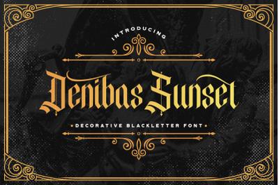 Denibas Sunset - Blackletter Font