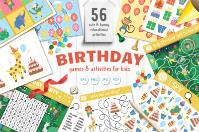 Birthday Games and Activities for kids