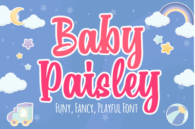 Baby Paisley a Playful Font