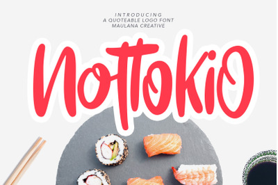 Nottokio Quoteable Logo Font