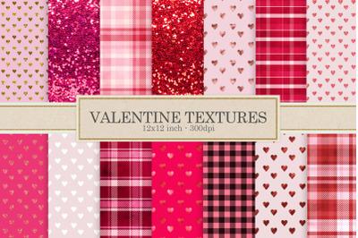 Valentine textures, buffalo plaid
