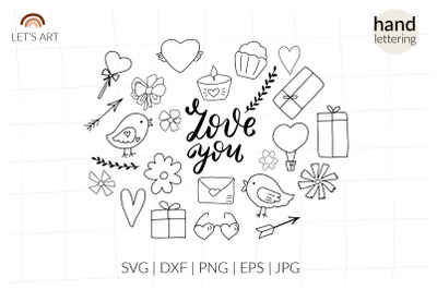 Love svg, Valentine svg, Doodle Valentines day. Valentine shirt design