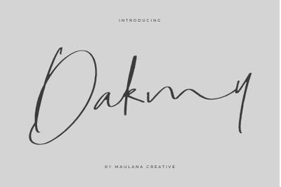 Dakmy Signature Brush Font