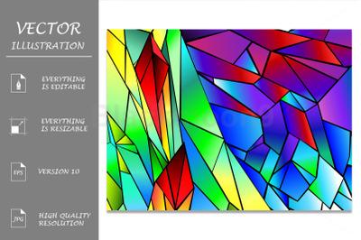 Rainbow polygonal background