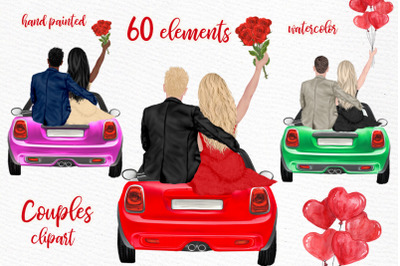 Couples Clipart Valentines day Love clipart Custom People