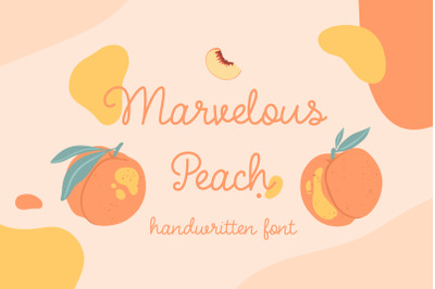 Marvelous Peach | handwritten font