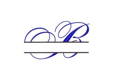 Split Monogram Embroidery design Letter B
