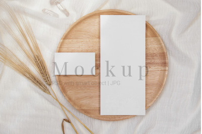 Styled Menu Card,Greeting Card,Mockup Menu,4x9 Card Mockup
