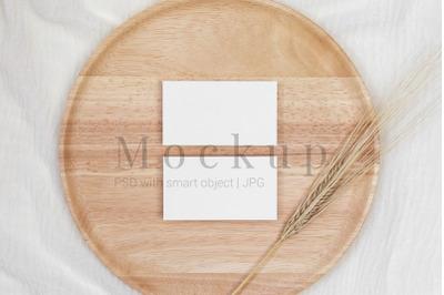 3.5x2 Card Mockup,Card Mockup,Invitation Mockup