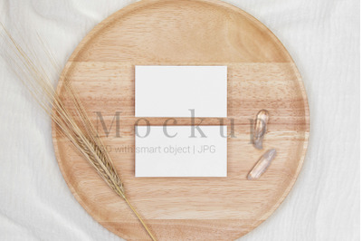 3.5x2 Card Mockup,Invitation Mockup,PSD Mockup