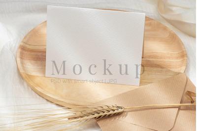 5.5x4.25 Card Mockup,Greeting Card,Wedding Mockup