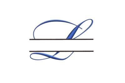 Split Monogram Embroidery design Letter L