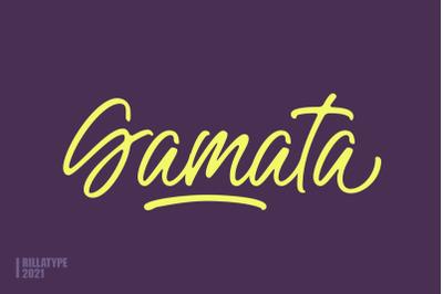 Gamata - Brush Script