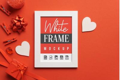 White Frame Love Mockup