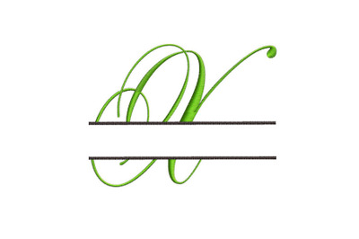 Split Monogram Embroidery design Letter X