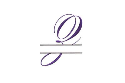 Split Monogram Embroidery design Letter Z