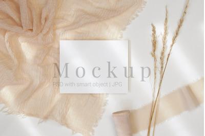 5.5x4.25 Card Mockup,Smart Object Mockup,Card Mockup