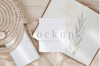 Greeting Card,Wedding Mockup,5.5x4.25 Card Mockup