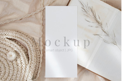 Wedding Menu Mockup,Greeting Card,4x9 Card Mockup
