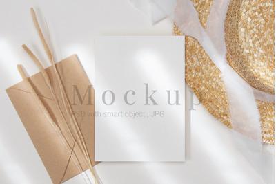 Mockup Template,Greeting Card Mockup
