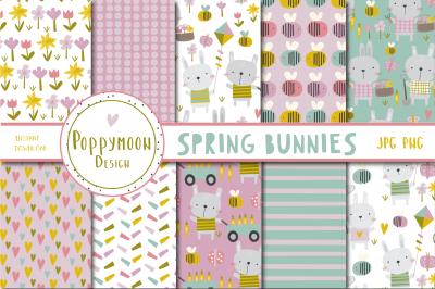 Spring Bunnies paper set