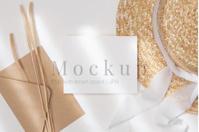 Smart Object Mockup,PSD Mockup,5.5x4.25 Card Mockup